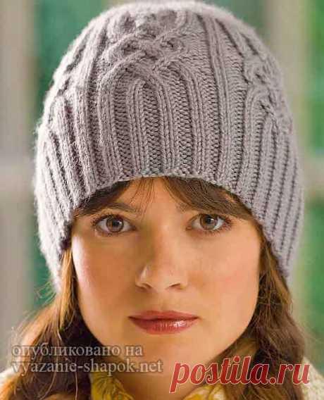 Очаровательная шапочка с аранами спицами от Редхарт | Вязание Шапок Спицами и Крючком