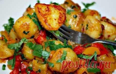 Шустрый повар.: Острая картошка с болгарским перцем