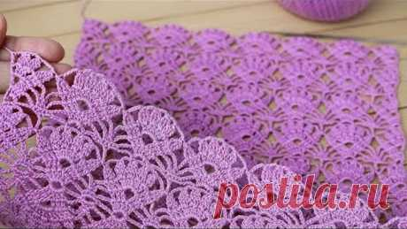 Простой ЦВЕТОЧНЫЙ УЗОР вязание крючком СХЕМА узора Easy to Crochet Tape Lace flower pattern