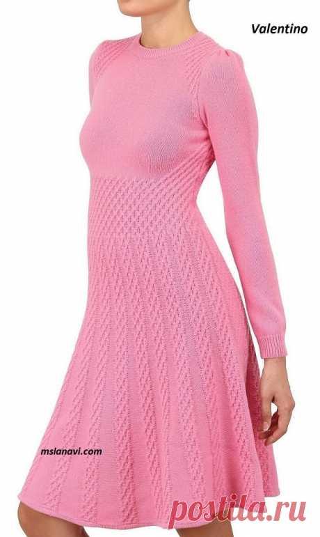 сообщение вязалочки : Вязаное платье спицами от Valentino - Схемы (16:03 20-02-2017) [3203889/409151231] - Почта Mail.Ru