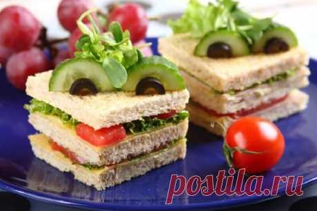 Сэндвич с салатом и ветчиной – пошаговый рецепт с фото.