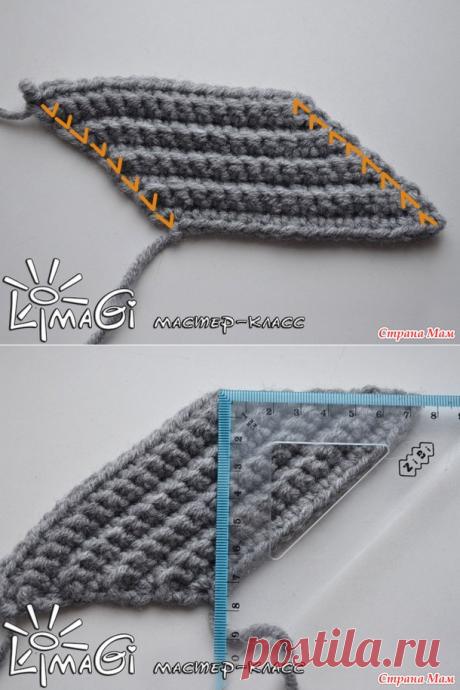 МК Диагональная резинка крючком, в том числе для отворота и валика - Вязание - Страна Мам
