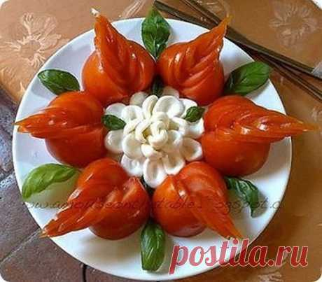 Как красиво оформить праздничные овощные нарезки — Полезные советы