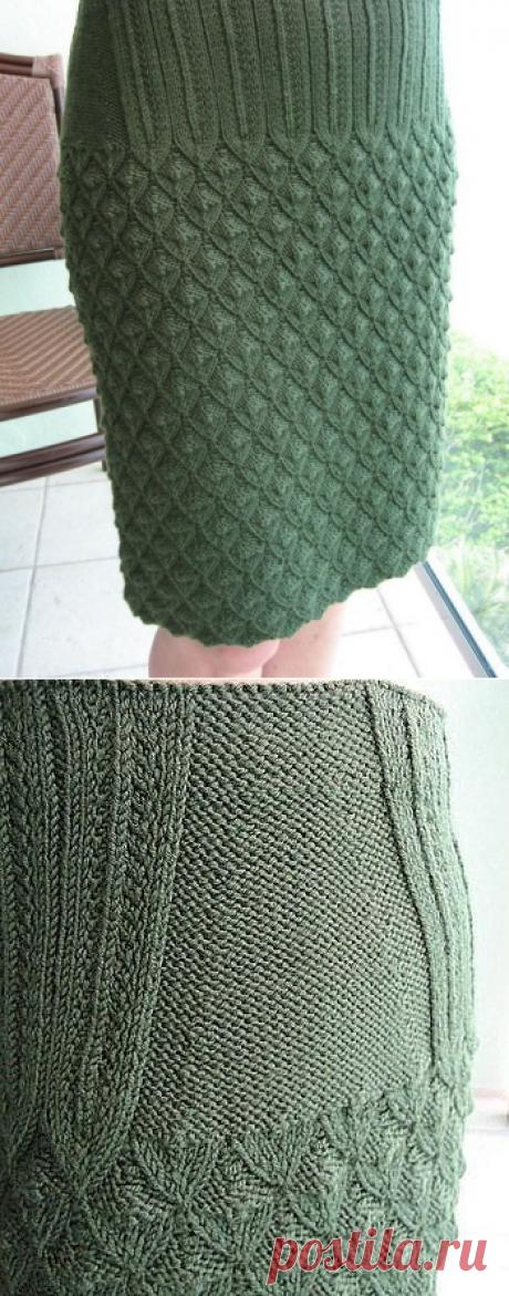 Путанка вязать юбку спицами