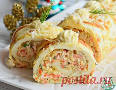 Рулет яичный с сыром и морковью – кулинарный рецепт