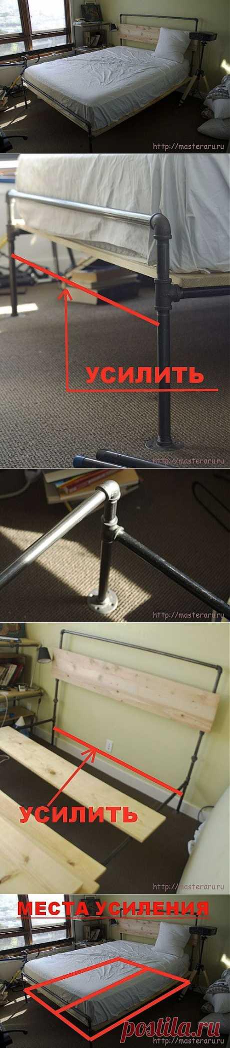 (+1) - Как сделать оригинальную кровать для дачи своими руками   Очумелые ручки
