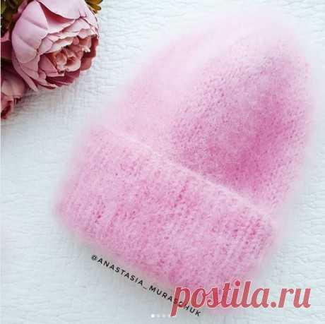 Как связать спицами шапку из ангоры, Вязание для женщин