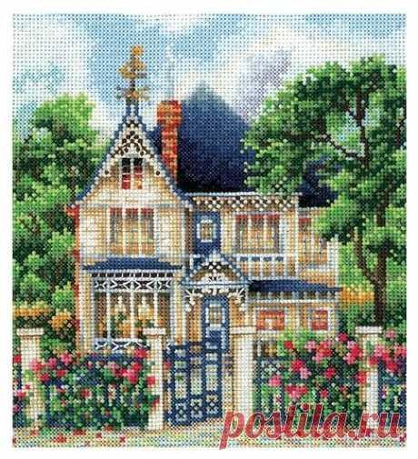 Купить Сделай своими руками Набор для вышивания крестиком Загородный дом 16 х 17,5 см (З-36) по низкой цене с доставкой из Яндекс.Маркета