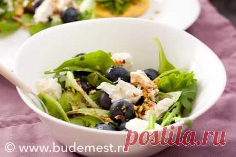 Тарталетки с салатом, сыром и черникой - Будем есть
