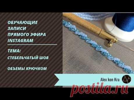 Объемные швы в вышивке / Обучение вышивке люневильским крючком