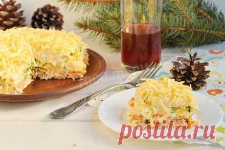 Салат с вафельными коржами рецепт с фото - 1000.menu