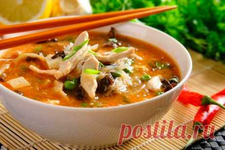 Кисло острый китайский суп – пошаговый рецепт с фото.