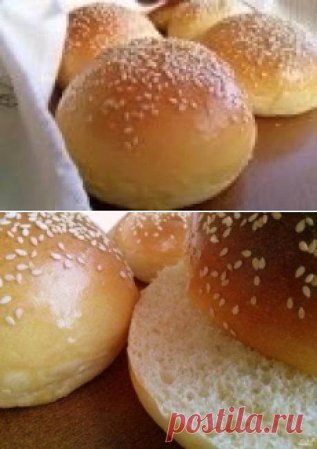 Los panecillos para burgerov - poshagovyy la receta de la foto en Повар.ру