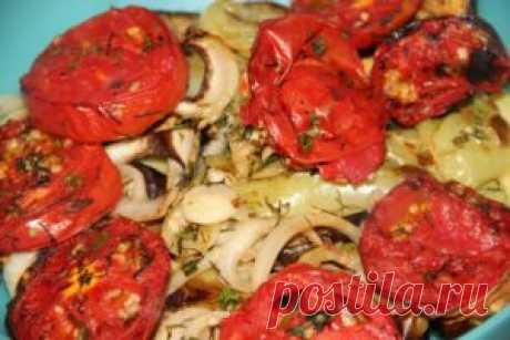 Овощной салат-гриль в маринаде