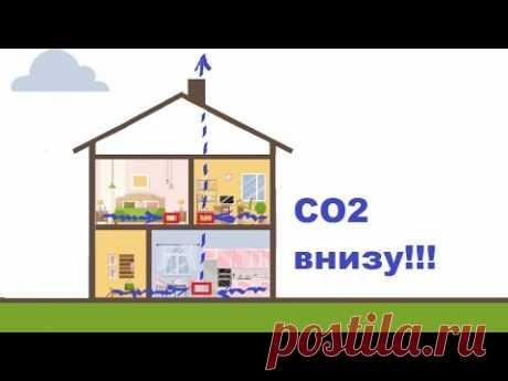 теперь ты будешь знать❗❗❗ чем ты дышишь? углекислый газ СО2 концентрируется 😲ВНИЗУ😲 и как это учесть