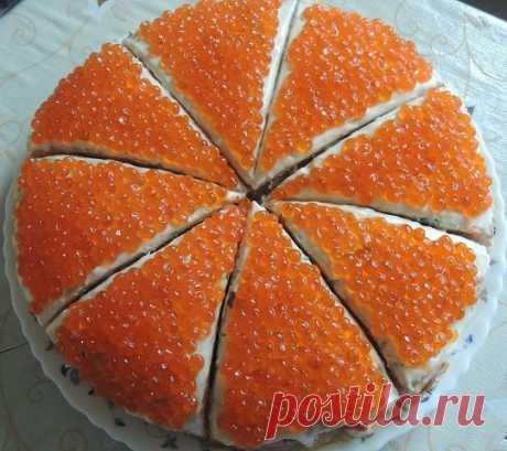 Закусочный торт из морепродуктов к Новогоднему столу / Западло