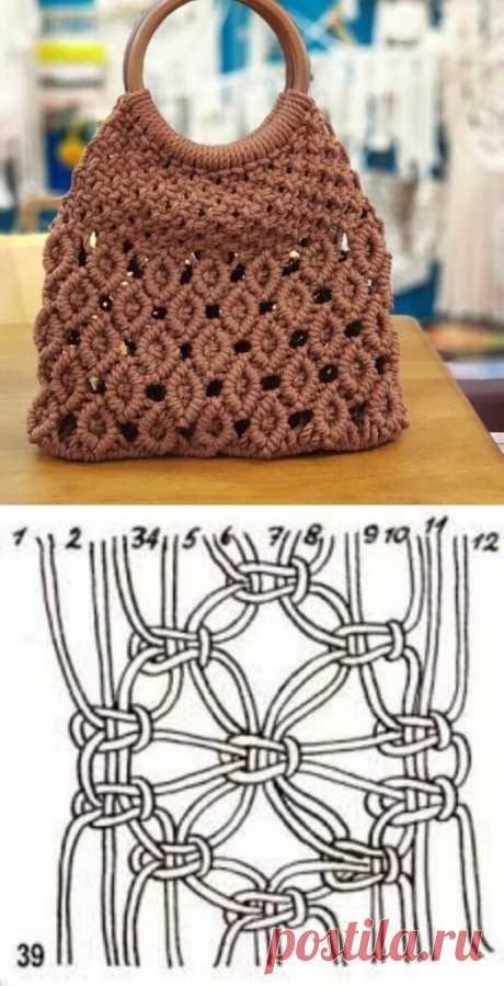 Сумки макраме: идеи и схемы плетения ~ Свое рукоделие