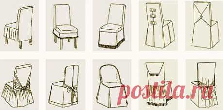 Чехол на стул: выкройка — Сделай сам, идеи для творчества - DIY Ideas