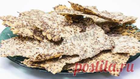 Крекеры из льняного семени рецепт с фото пошагово и видео - 1000.menu