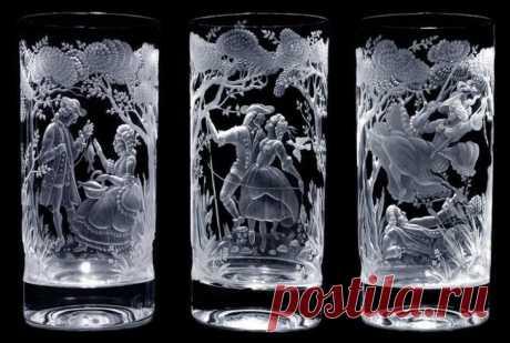 Резьба и гравировка по стеклу и хрусталю