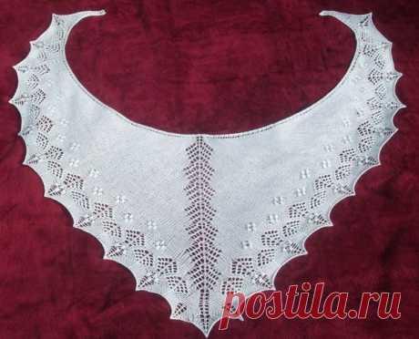Ажурная шаль по схеме. Простая схема вязания шали | Handmade24