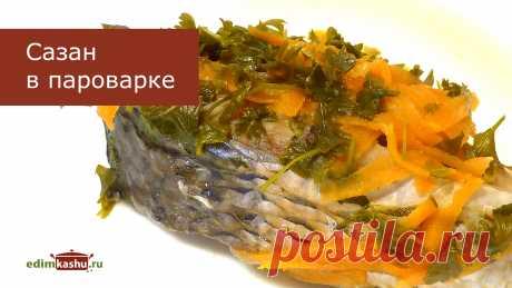 Сазан на пару с овощами - очень простой рецепт вкусного рыбного блюда. Минимальное активное время готовки. Самые доступные овощи - морковь, лук, болгарский перец, кабачок и др.  #сазанрецепт#сазаннапару#сазансовощами#сазанвпароварке#рыба#рыбныеблюда#кулинарныйканал#простыерецепты#здоровоепитание#натальягорбачева#видеорецепты#ппрецепты  Ссылка на это видео:https://youtu.be/lyJ