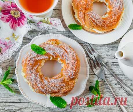 Заварные кольца с творожным кремом на Вкусном Блоге