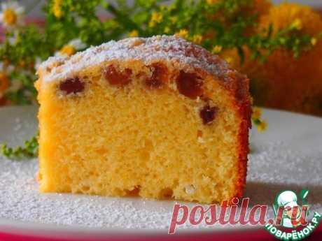 Нежный солнечный кекс – кулинарный рецепт