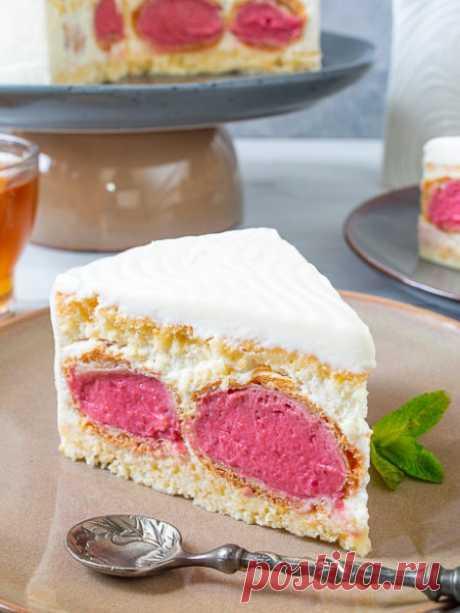Рецепт вишневого торта с профитролями на Вкусном Блоге