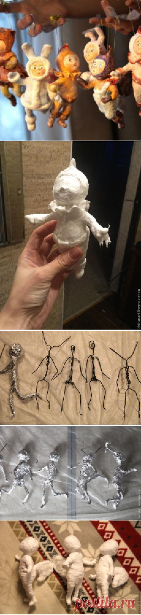 """""""Ребятки на елочку"""": мастерим ватные елочные игрушки / Мастер классы. Изготовление авторских кукол / Бэйбики. Куклы фото. Одежда для кукол"""