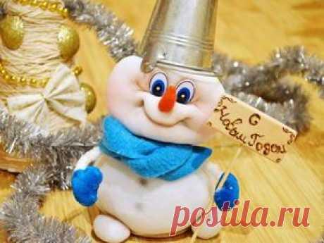 Видео мастер-класс: шьем очаровательного снеговёнка из капрона - Ярмарка Мастеров - ручная работа, handmade