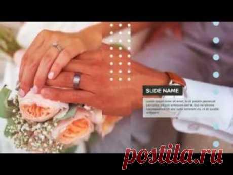 Шаблон для создания видеоролика: Шаблон рекламы свадебных услуг