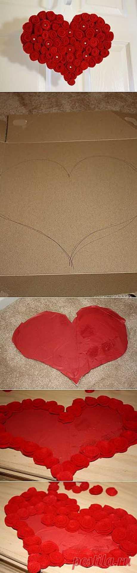 Поделки на день Валентина – Сердце из роз мастер класс | Самоделки