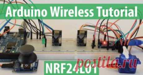 Arduino Wireless Communication - NRF24L01 Tutorial - HowToMechatronics In this Arduino tutorial we will learn how to make a wireless communication between two Arduino boards using the NRF24L01 transceiver module.