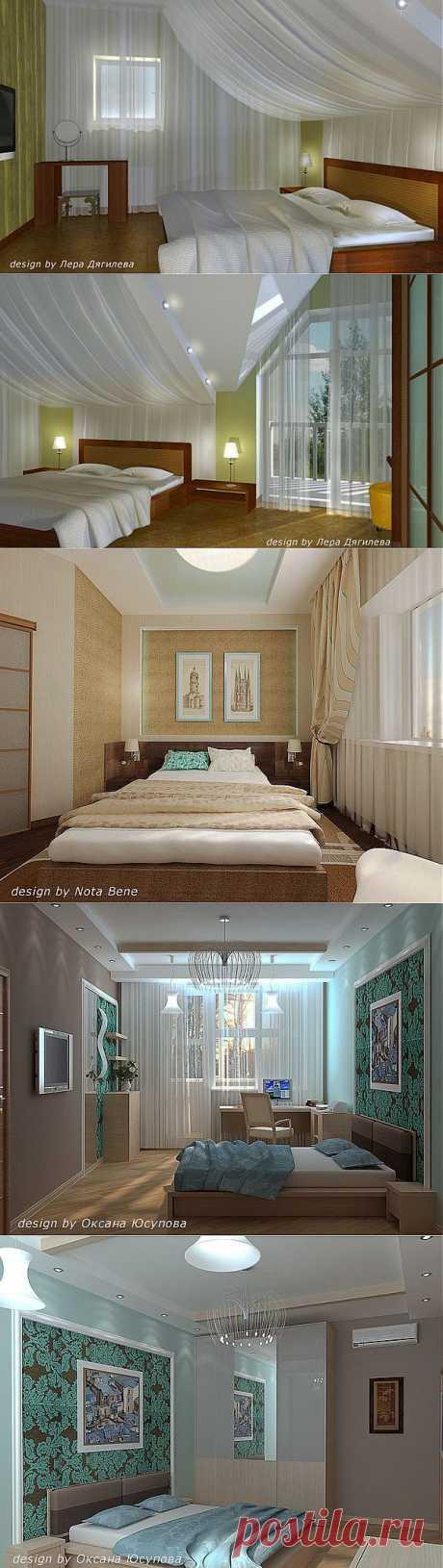 Лаконичный дизайн современного интерьера спальни.