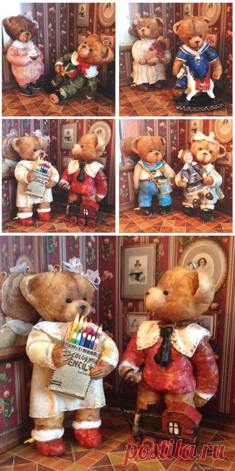 Мишки-детки. Начало ХХ века – заказать на Ярмарке Мастеров – E9BH3RU   Елочные игрушки, Москва