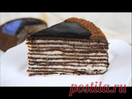 Шоколадный торт СПАРТАК / Вкусный рецепт шоколадного Медовика с заварным кремом 🎂🌟 - YouTube