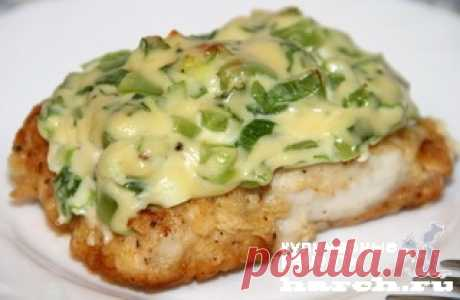 Рыба под сырным соусом