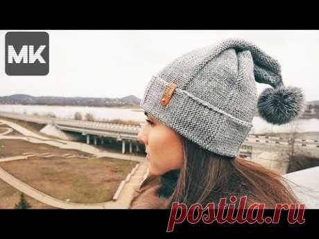 МОДНАЯ ШАПКА ЛУКОВКА / Подробный урок вязания легкой шапки спицами / Onion knit hat