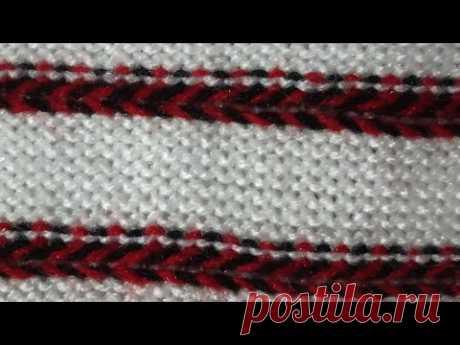 Two color Knitting pattern in knitting machine #34(निटिंग मशीन में  दो कलर का निटिंग डिजाइन #34)