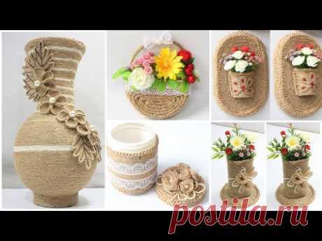 5 Jute craft ideas | Home decorating ideas handmade