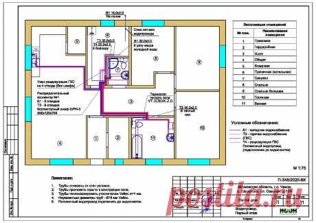 Проект отопления частного дома, пример 1434