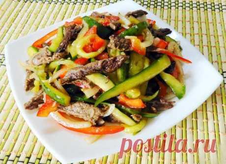 Теплый тайский салат: ну очень вкусно!