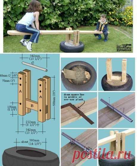Оформление детской площадки на даче 👶 / Рукоделие