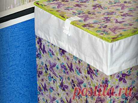 Ящик для белья из картона и бумажных салфеток - Ярмарка Мастеров - ручная работа, handmade