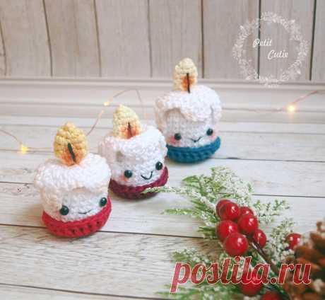 Рождественские свечи крючком: схема амигуруми