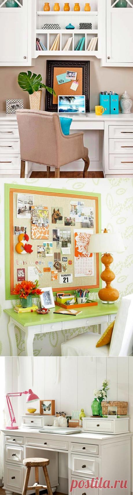 Женский домашний офис: 17 ярких идей оформления