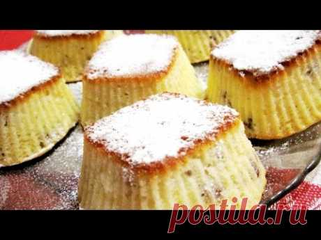 Творожные кексы - маффины с изюмом по-быстрому. Простой и быстрый рецепт