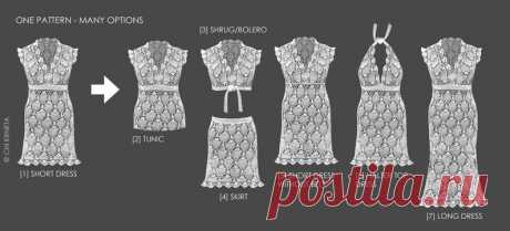 Crochet Lace / Wedding Dress Pattern | Etsy