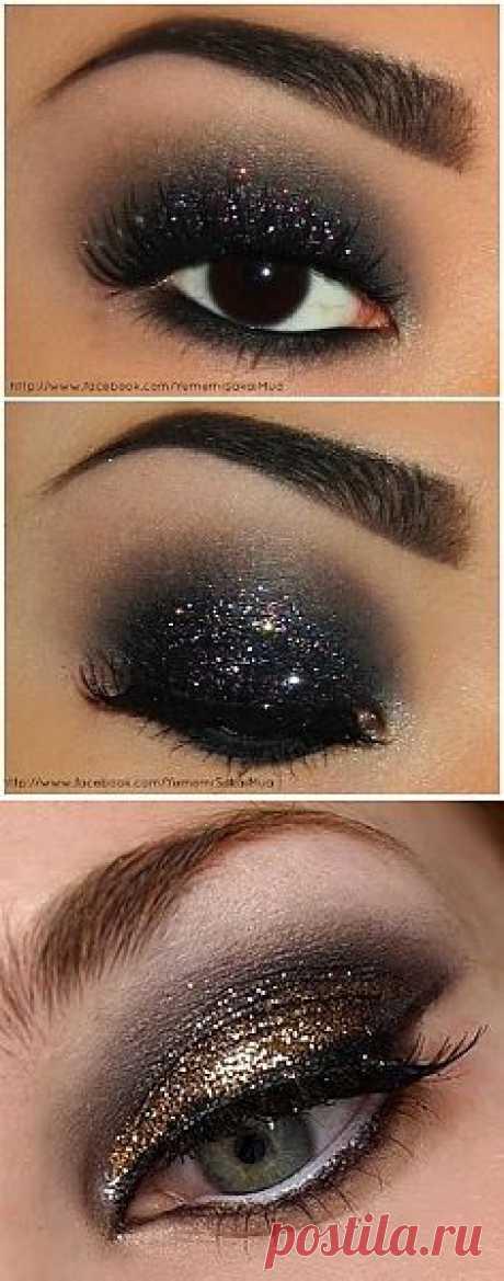 мерцающий макияж глаз